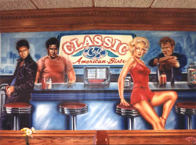 Classic Cafe mural