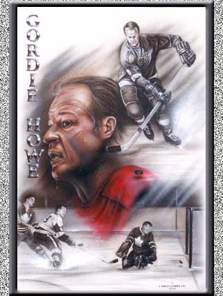 Gordy Howe Canvas