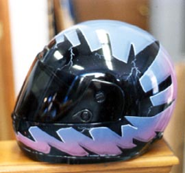 Graphic Helmet Side