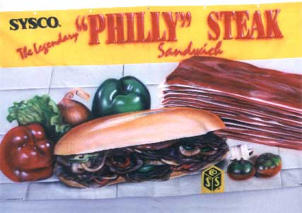 Philly Cheese Steak Banner